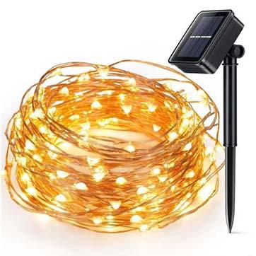 太阳能铜线灯