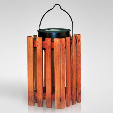 太阳能木制灯笼灯